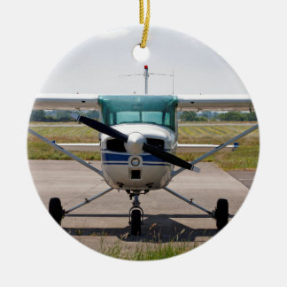 Cessna light aircraft ceramic ornament