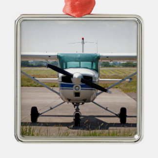 Cessna light aircraft metal ornament