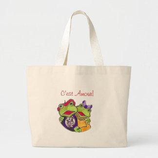C'est Amour! Pierre & Colette! Jumbo Tote Bag