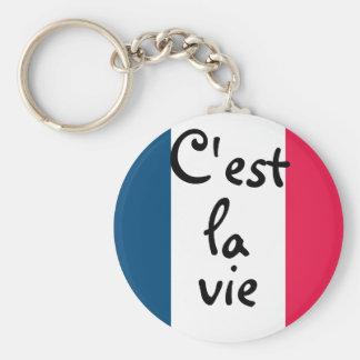 C'est la vie keychain too