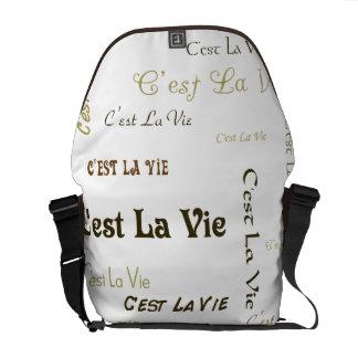 C'est La Vie Messenger Bag