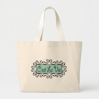 C'est La Vie (That's Life) Tote Bags