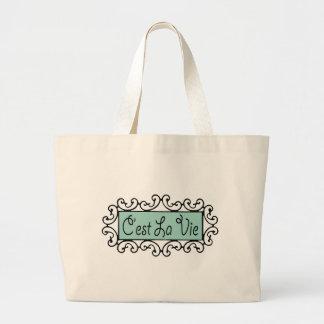 C'est La Vie (That's Life) Jumbo Tote Bag