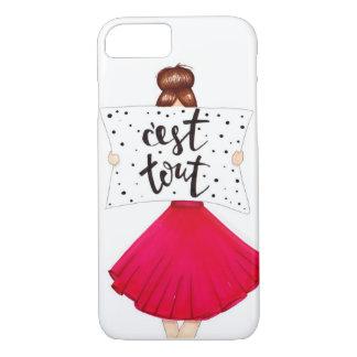 """""""C'est tous"""" Fashion Girl iPhone Case"""