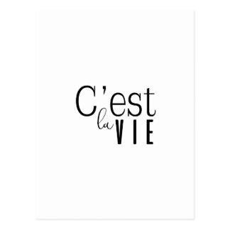 cestlavie C'est la Vie Postcard