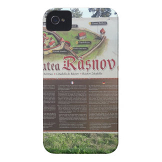 Cetatea Rasnov, Romania. Historic fortress map. Case-Mate iPhone 4 Cases