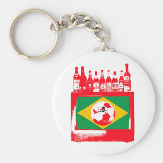 céu de futebol brasileiro keychain