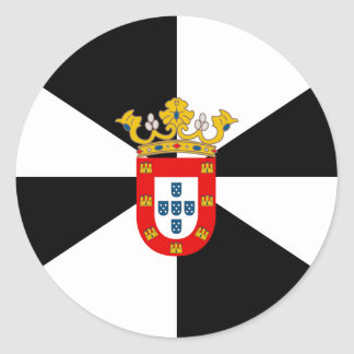 Ceuta High quality Flag Round Sticker