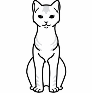 Ceylon Cat Cartoon Standing Photo Sculpture
