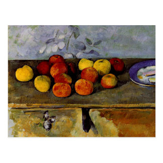 Cezanne - Apples and Biscuits Postcard
