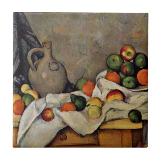Cezanne - Curtain, Jug and Fruit Small Square Tile