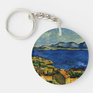 Cezanne - Gulf of Marseille seen from L'Estaque Key Ring