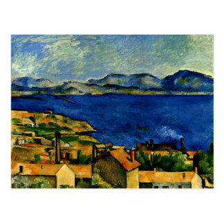 Cezanne - Gulf of Marseille seen from L'Estaque Postcard