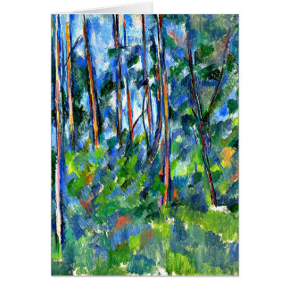 Cezanne - In the Woods -1898 Card