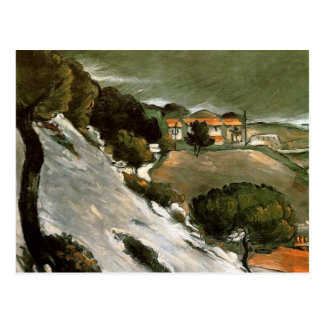 Cezanne - L'Estaque Melting Snow Postcard
