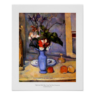 Cezanne painting Still Life With Blue Vase art Poster