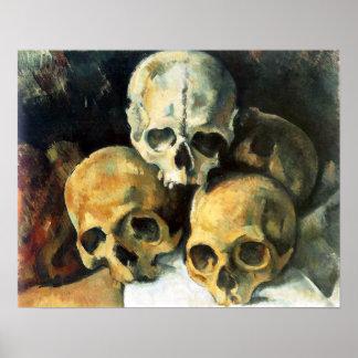 Cezanne Pyramid of Skulls Poster