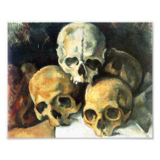 Cezanne Pyramid of Skulls Print Photo