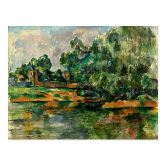 Cezanne - Riverbank Postcard