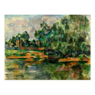 Cezanne - Riverbank Postcard