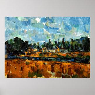 Cezanne - Riverbanks Poster