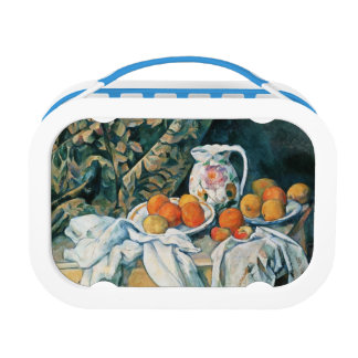 Cezanne Still Life Curtain,Flowered Pitcher,Fruit Lunch Boxes