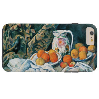 Cezanne Still Life Curtain,Flowered Pitcher,Fruit Tough iPhone 6 Plus Case