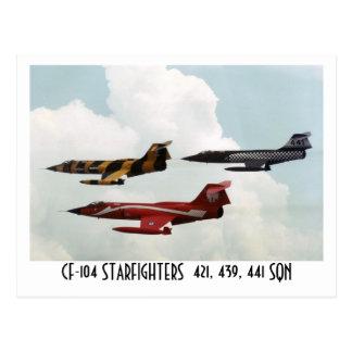 CF-104 STARFIGHTER POSTCARD