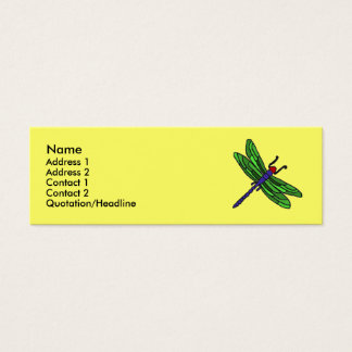 CF- Dragonfly Business Cards... Mini Business Card