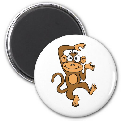 CF- Happy Dancing Monkey Refrigerator Magnets