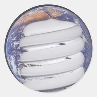 CFL Earth Round Sticker