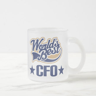 CFO Gift Chief Financial Officer (Worlds Best) Frosted Glass Mug