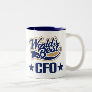 CFO Gift Chief Financial Officer (Worlds Best) Two-Tone Coffee Mug