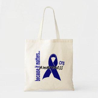 CFS Chronic Fatigue Syndrome Awareness Canvas Bags