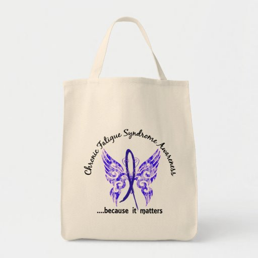 CFS Chronic Fatigue Syndrome Butterfly Tote Bag