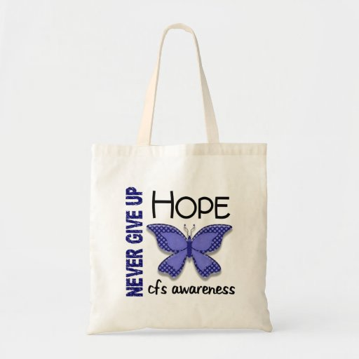CFS Chronic Fatigue Syndrome Butterfly Canvas Bags