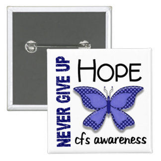 CFS Chronic Fatigue Syndrome Butterfly Buttons
