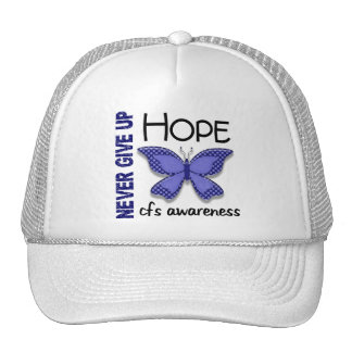CFS Chronic Fatigue Syndrome Butterfly Trucker Hats