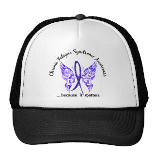 CFS Chronic Fatigue Syndrome Butterfly Hat