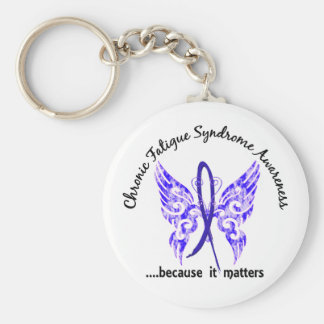 CFS Chronic Fatigue Syndrome Butterfly Key Ring
