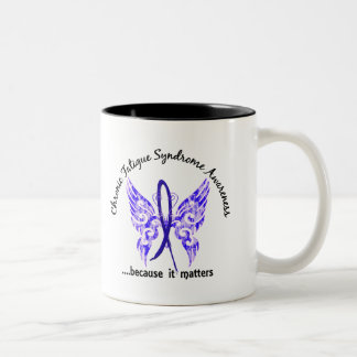 CFS Chronic Fatigue Syndrome Butterfly Mugs