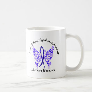 CFS Chronic Fatigue Syndrome Butterfly Coffee Mugs
