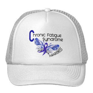 CFS Chronic Fatigue Syndrome Tattoo Butterfly Hats