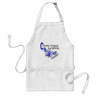 CFS Chronic Fatigue Syndrome Tattoo Butterfly Standard Apron