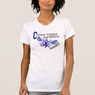CFS Chronic Fatigue Syndrome Tattoo Butterfly T-shirts