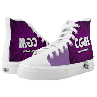 CG Matrix purple shoes Printed Shoes