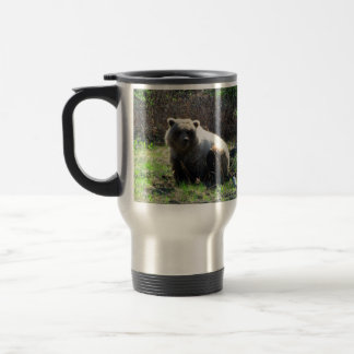 CGB Chubby Grizzly Bear Stainless Steel Travel Mug