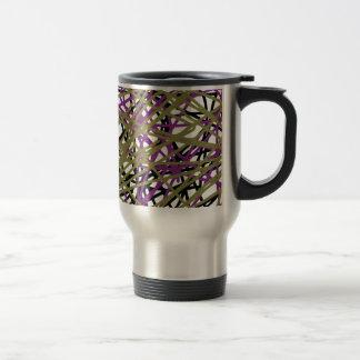 CGDHFN Abstract Digital Line-Art Travel Mug