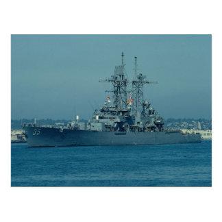 """CGN 35 """"Truxton"""", nuclear powered cruiser, San Die Postcard"""