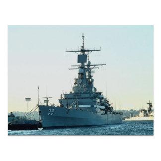 """CGN 39 """"USS Texas"""", nuclear powered cruiser, San D Postcard"""